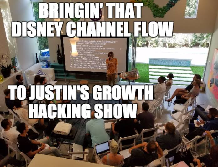 """10 CRITICAL GROWTH HACKING LEARNINGS FROM Justin Wu's ace """"Stacking Growth"""" event in Beverly Hills:"""